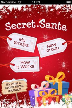 secret santa iphone app by peapod apps